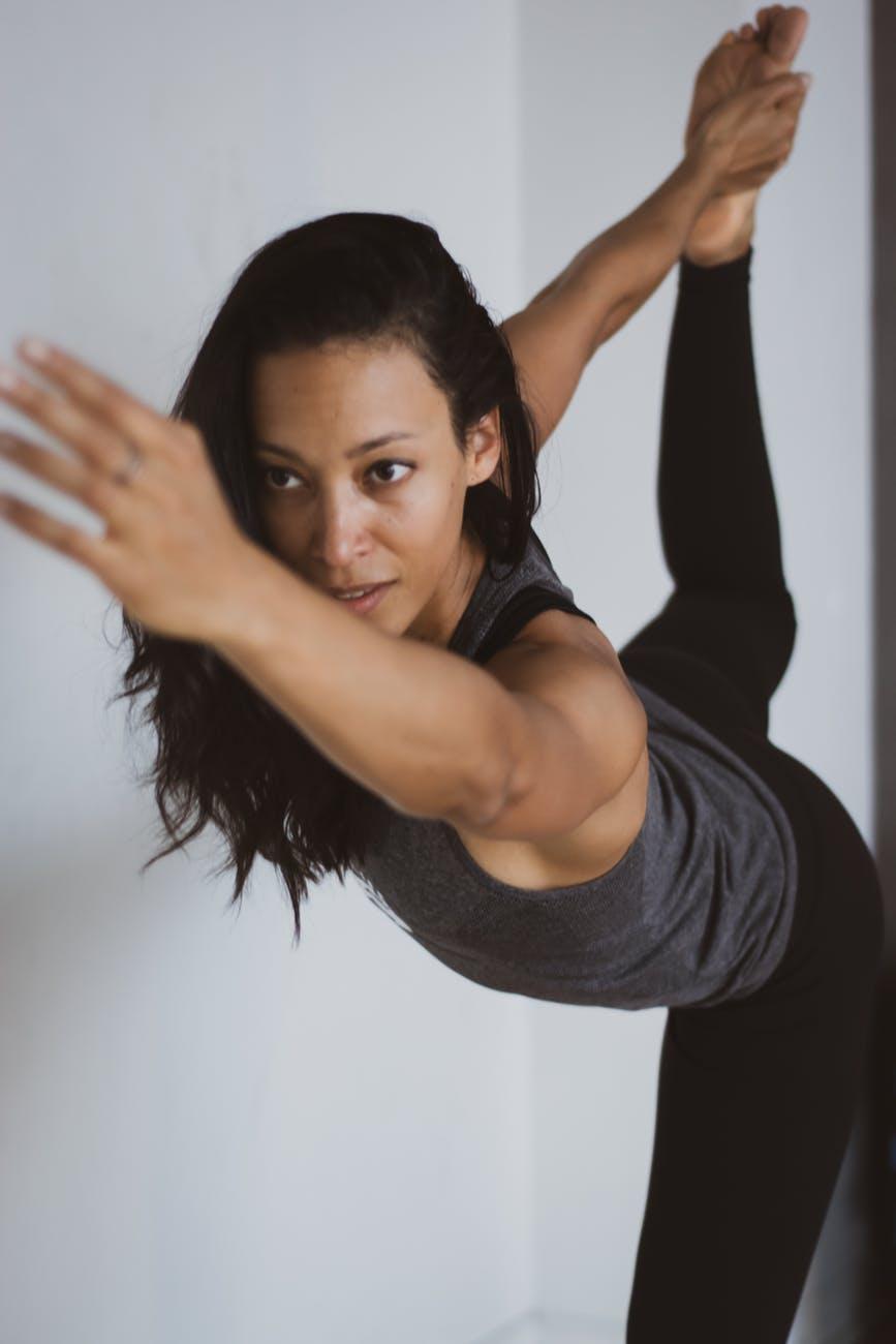 balance exercise facial expression fashion
