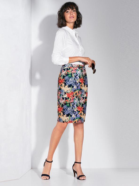 elastic-milano-dot-printed-brush-skirt-print-dark-blue